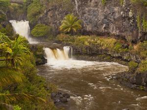 Ohe'O Gulch and Seven Sacred Pools, Haleakala National Park, Maui, Hawaii, USA by Cathy & Gordon Illg