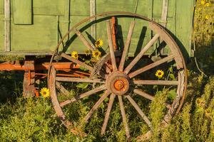 USA, South Dakota, Wild Horse Sanctuary. Close-up of Vintage Wagon by Cathy & Gordon Illg