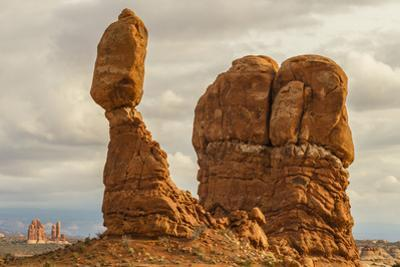 USA, Utah, Arches National Park. Close-up of Balanced Rock by Cathy & Gordon Illg