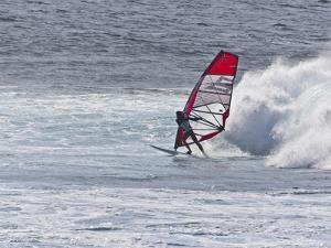 Windsurfer, Hookipa Beach Park, Maui, Hawaii, USA by Cathy & Gordon Illg