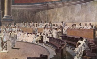 Catiline Plotting to Seize Power in Rome is Denounced in the Senate by Cicero