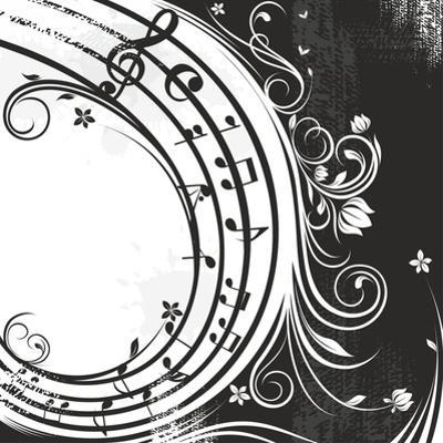 Black And White Music Background by catrin81
