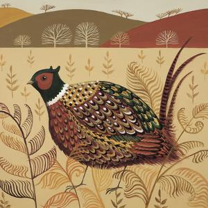 Foraging Pheasant by Catriona Hall