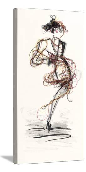 Catwalk Glamour III-Lou Lacroix-Stretched Canvas