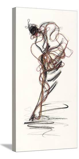Catwalk Glamour IV-Lou Lacroix-Stretched Canvas Print