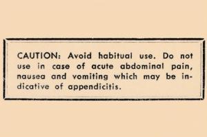Caution: Avoid Habitual Use…