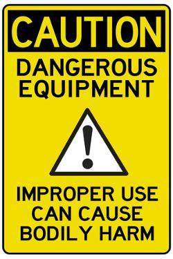 Caution Dangerous Machinery Advisory Work Place Plastic Sign