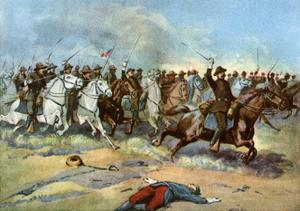 Cavalry Charge by Us Regulars, Spanish-American War, 1898
