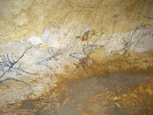 Cave Painting of Swimming Stags at Lascaux