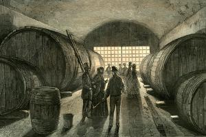 Caves Wine Champagne France 19th Century