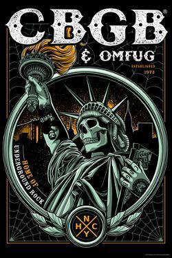 CBGB & OMFUG - Statue of Liberty Skull