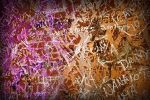 Colorful Grunge Background With Graffiti And Writings And A Slight Vignette by ccaetano