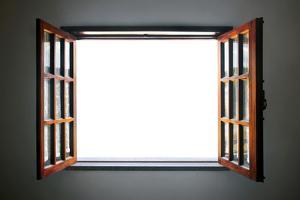 Wide Open Rustic Wooden Window by ccaetano
