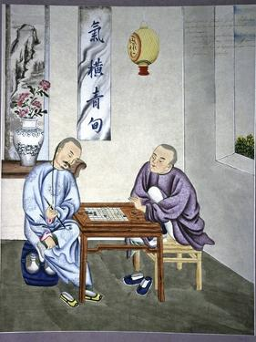 Men Playing Go, Artwork by CCI Archives