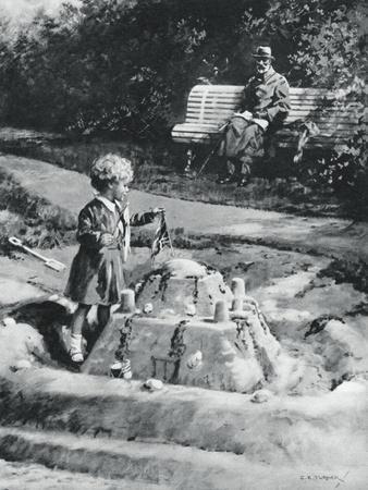 George V and Princess Elizabeth, Craigwell House, Bognor Regis, 1929