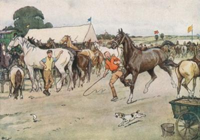A Horse Fair... 'There Was a Great Deal of Bargaining, Running Up, and Beating Down' by Cecil Aldin