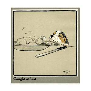 Forager the Puppy Sniffs at the Irish Stew by Cecil Aldin