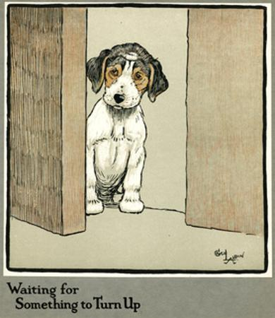 Forager the Puppy Waiting for More Food by Cecil Aldin