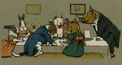 Hungry Peter the Pig's Dinner Party by Cecil Aldin