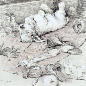 Mischievous Puppy by Cecil Aldin