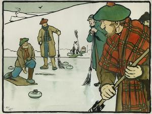 Old English Sports and Games: Curling, 1901 by Cecil Aldin