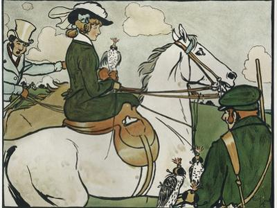 Old English Sports and Games: Hawking, 1901 by Cecil Aldin