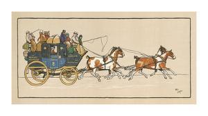 Stagecoach I by Cecil Aldin