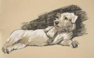 Terrier Detail, 1930, Just Among Friends, Aldin, Cecil Charles Windsor by Cecil Aldin