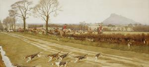 The Cheshire - Away from Tattenhall, 1912 by Cecil Aldin