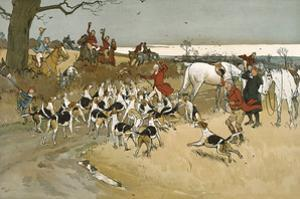 The Fallowfield Hunt, The Death by Cecil Aldin