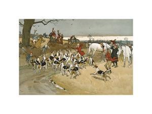 The Fallowfield Hunt, The Death by Cecil Aldin