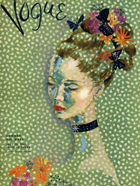 Vogue Cover - July 1935 by Cecil Beaton