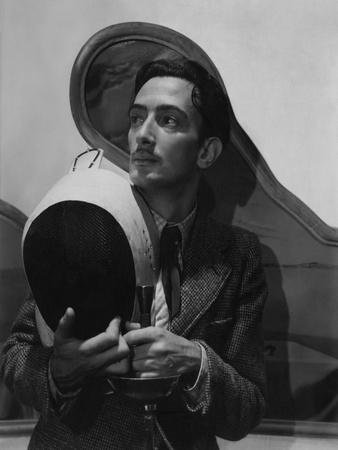 Vogue - November 1936 - Salvador Dali with Fencing Helmet