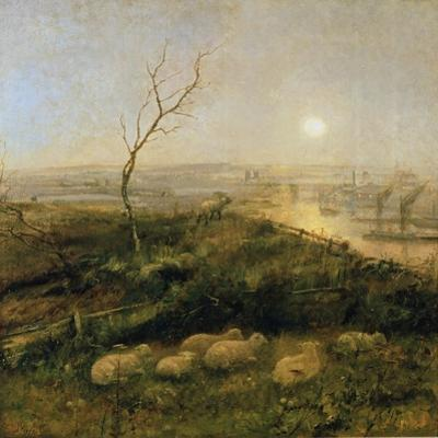 Strayed, a Moonlight Pastoral, 1878 by Cecil Gordon Lawson
