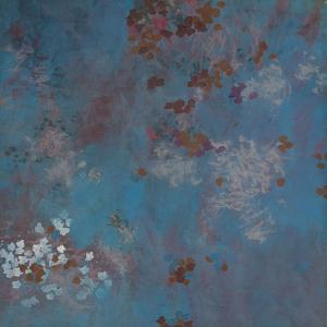 Blue Dappled Abstract by Cédric Chauvelot