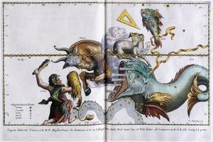 Celestial Map of the Constellations: Orion, Taurus, Aries and Pisces, 1666-1668