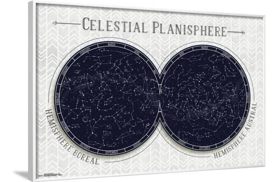 Celestial Planisphere--Framed Poster