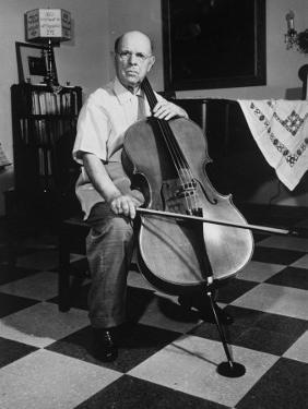 Cellist Pablo Casals at His Home