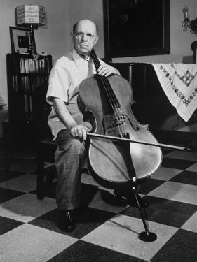Cellist Pablo Casals at His Home