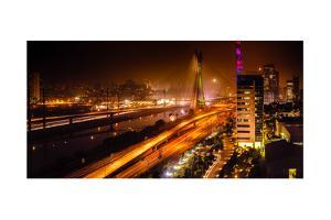 Bridge At Night In Sao Paulo by CelsoDiniz