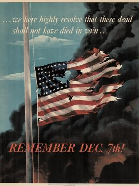Center Warshaw Collection, Office of War Information Poster. REMEMBER DEC. 7th!