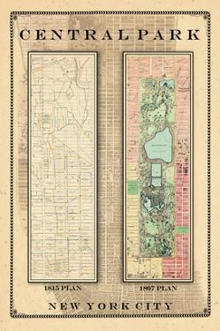 Central Park Development Composition 1815-1867, New York, United States, 1867