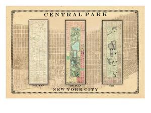 Central Park Development Composition1815-1885 - light, New York, United States, 2007