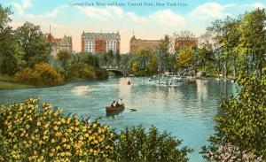 Central Park West and Lake, New York City