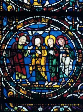 Centre of the Thabor, Stained Glass, Chartres Cathedral, France, 1194-1260