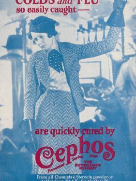 Cephos Cold and Flu Powder Advertisement