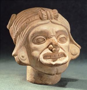 Ceramic Human Head Originating from Rio Iscuande