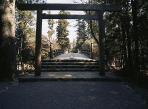 Ceremonial Gateway, or Torii, Ise