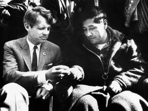 Cesar Chavez Ends His Hunger Strike with Sen Robert Kennedy
