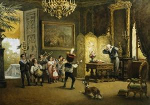 The Brass Band by Cesare Felix Georges Dell'Acqua